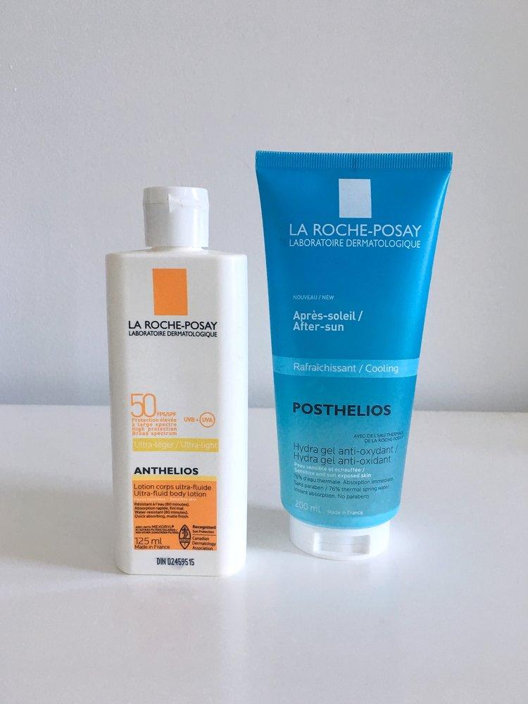REVIEW: La Roche Posay Ultra-Fluid Body Lotion 50 SPF & Antioxidant Hydra Gel -