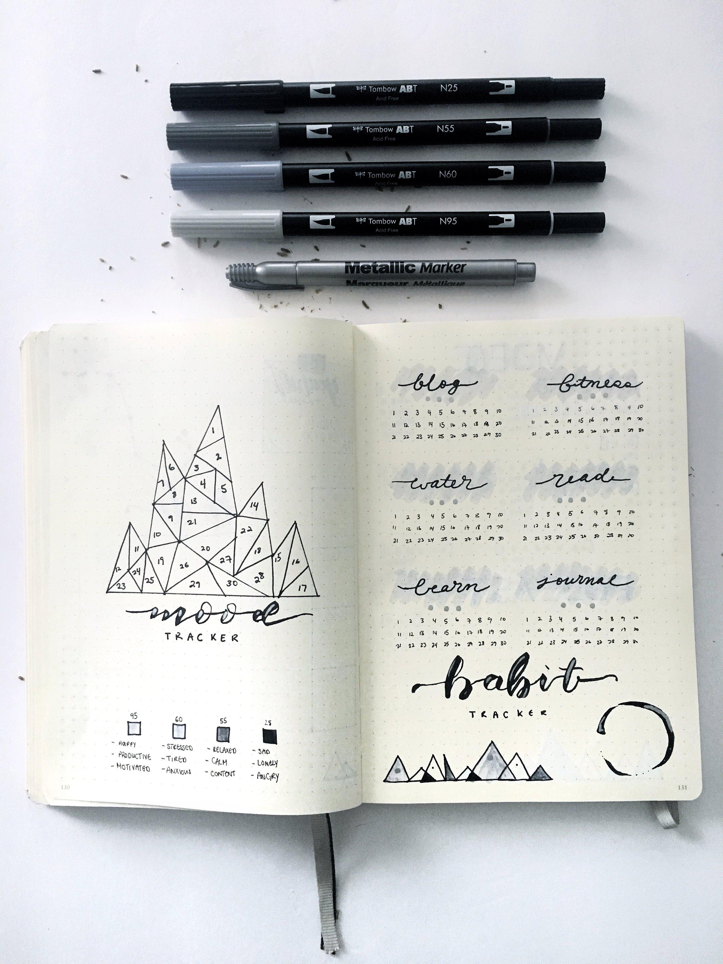 bojo nov 2018 mood and habit tracker