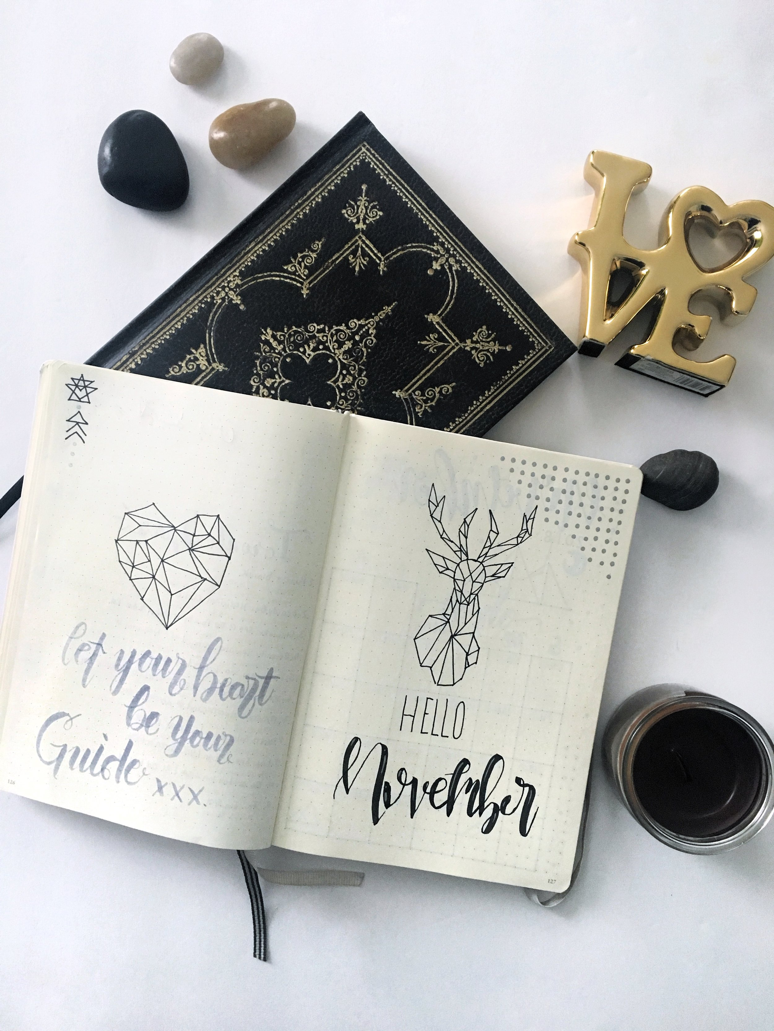 November Monthly Bullet Journal Spread 2018 -