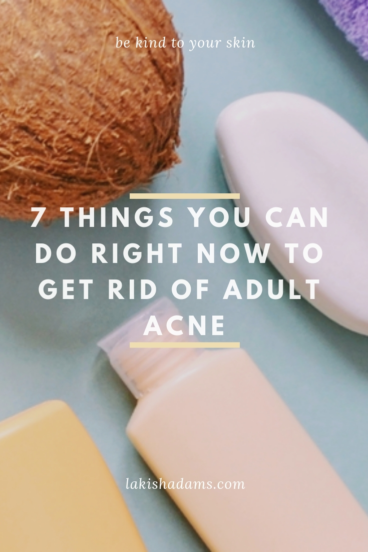 adult acne 7 things
