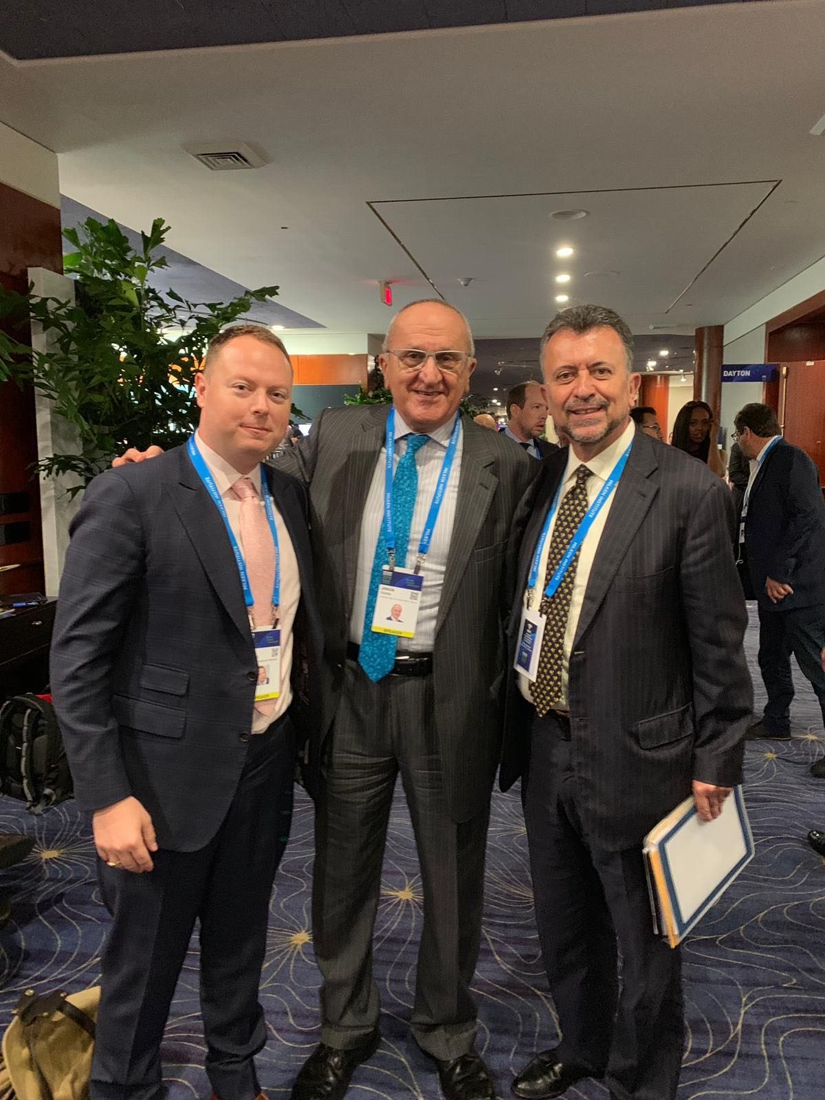 From left to right - John Kluge, Founder, Refugee Investment Network; Jesús Seade, Undersecretary for North America for the Mexican Ministry of Foreign Affairs; and Carlos García de Alba, Consul General of Mexico in Los   Angeles.