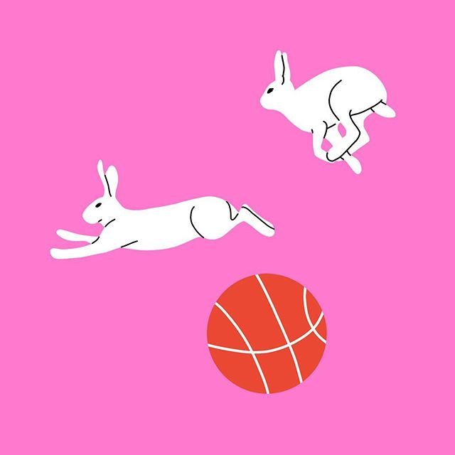 Une autre partie d'un projet récent avec @bonnechancebaby 🐇 - Another small part of a projet with @bonnechancebaby 🐇 - #rabbit #basketball #spacejam #painting