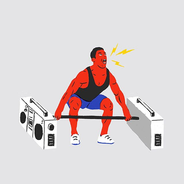 Une illustration pour Urbania et LaPresse + sur les comportements à éviter dans un gym.⁣⠀ -⁣⠀ An illustration for Urbania and LaPresse + on the behavior to avoid in gyms. ⁣⠀ -⁣⠀ #urbania #radio #dumbbells #crossfitlove #crossfitgym #muscleclub #training #mileend #illustrateddoris #illustrationofinstagram #mtlart #artmtl