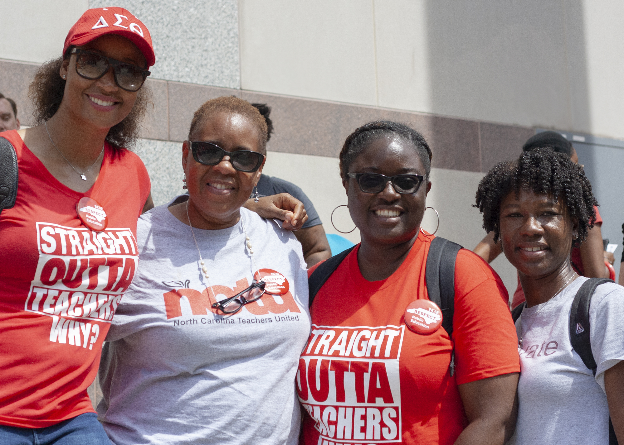 Jolandra, Djnna, Kim and Xiomara attended the Rally for Respect together on May 16.