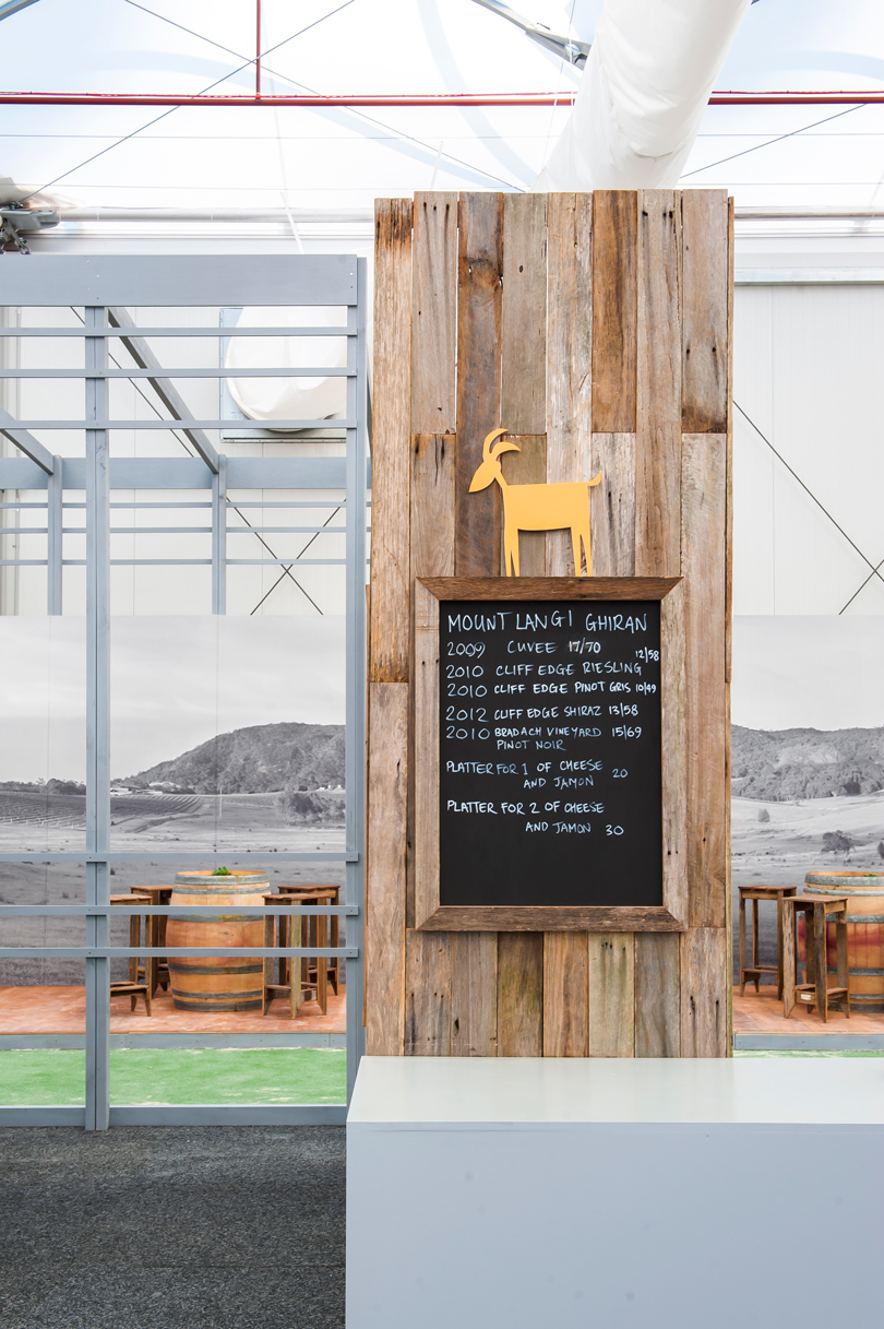 recycled timber feature in Mt Langhi bar