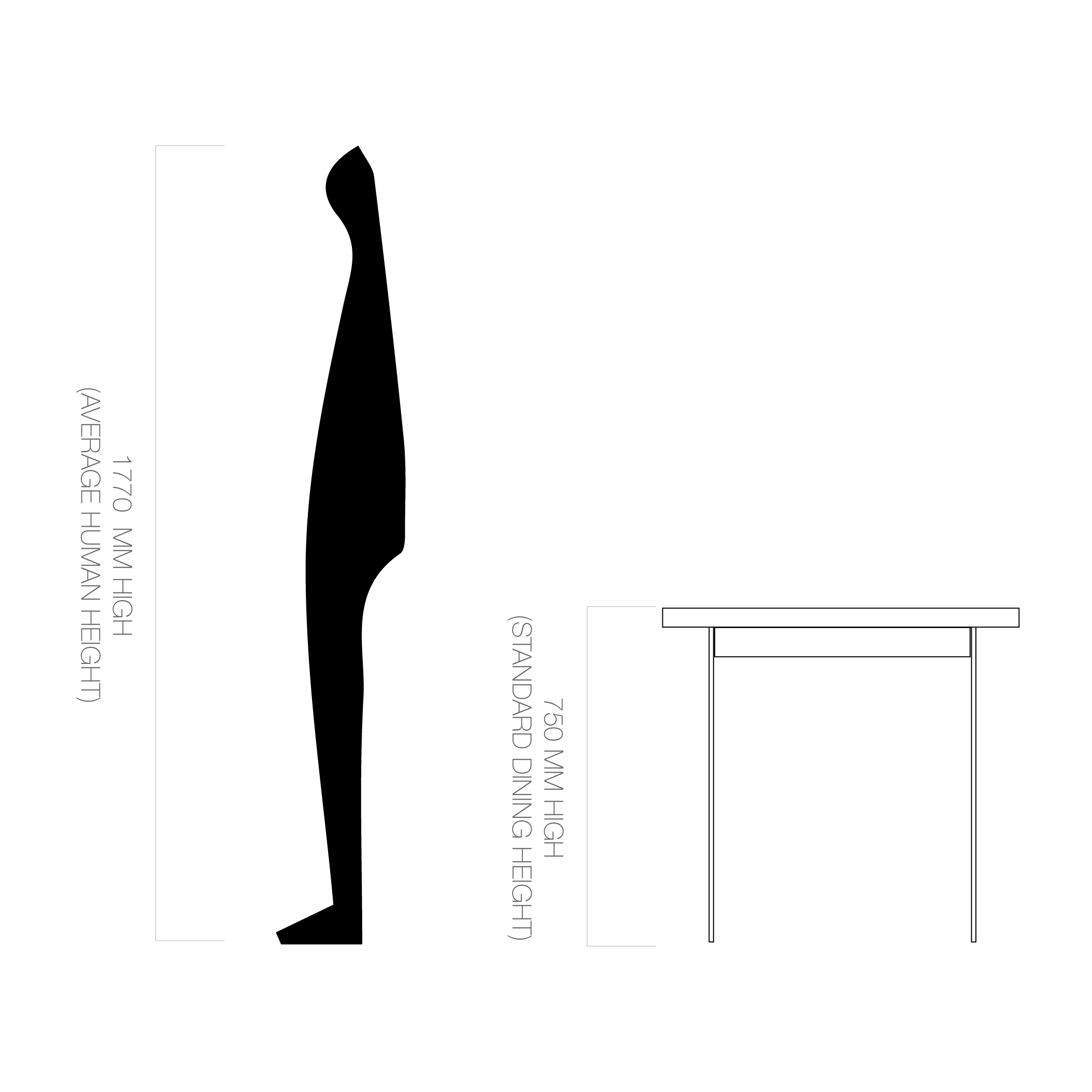 Dining/Desk Height | 750mm H