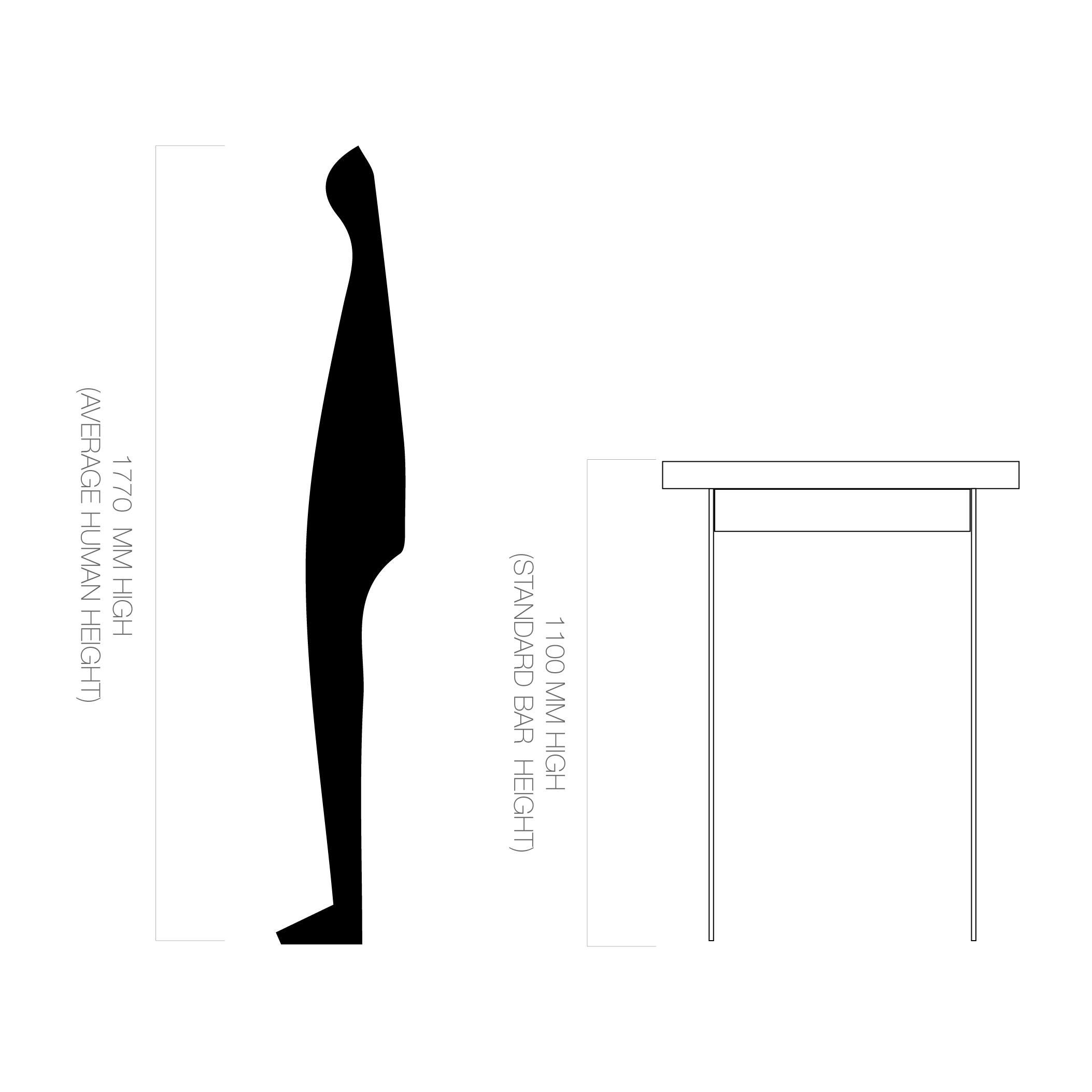 Bar Height | 1100mm H