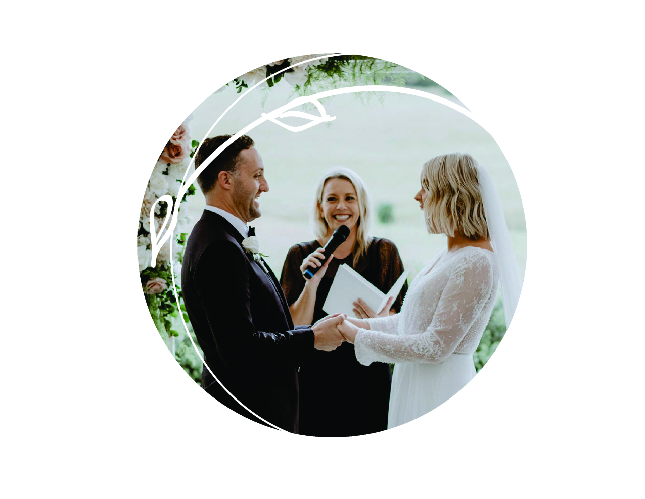 "Vows to make you laugh and cry    When it comes to your wedding vows, the more personal the better! I help you find the perfect words to say on your big day, and help you really tap into those ""feels"" to speak from the heart when it matters most."