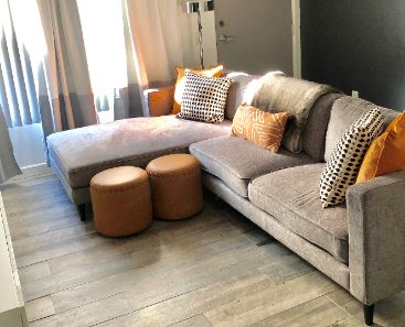 Glam Pad - This glam modern bachelor pad is located in sunny Hollywood, CA. This client had a completely non functional space with barely any furniture. He wanted to bring in much more seating for guests, and to create a home that reflects who he is from the inside out.VIEW ALL PHOTOS