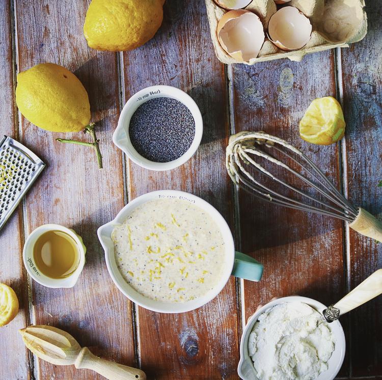 Lemon, Ricotta & Poppyseed Waffle Mixture