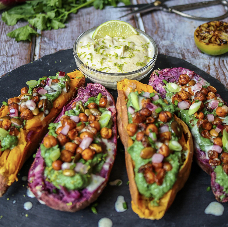 Loaded Sweet Potato Boats
