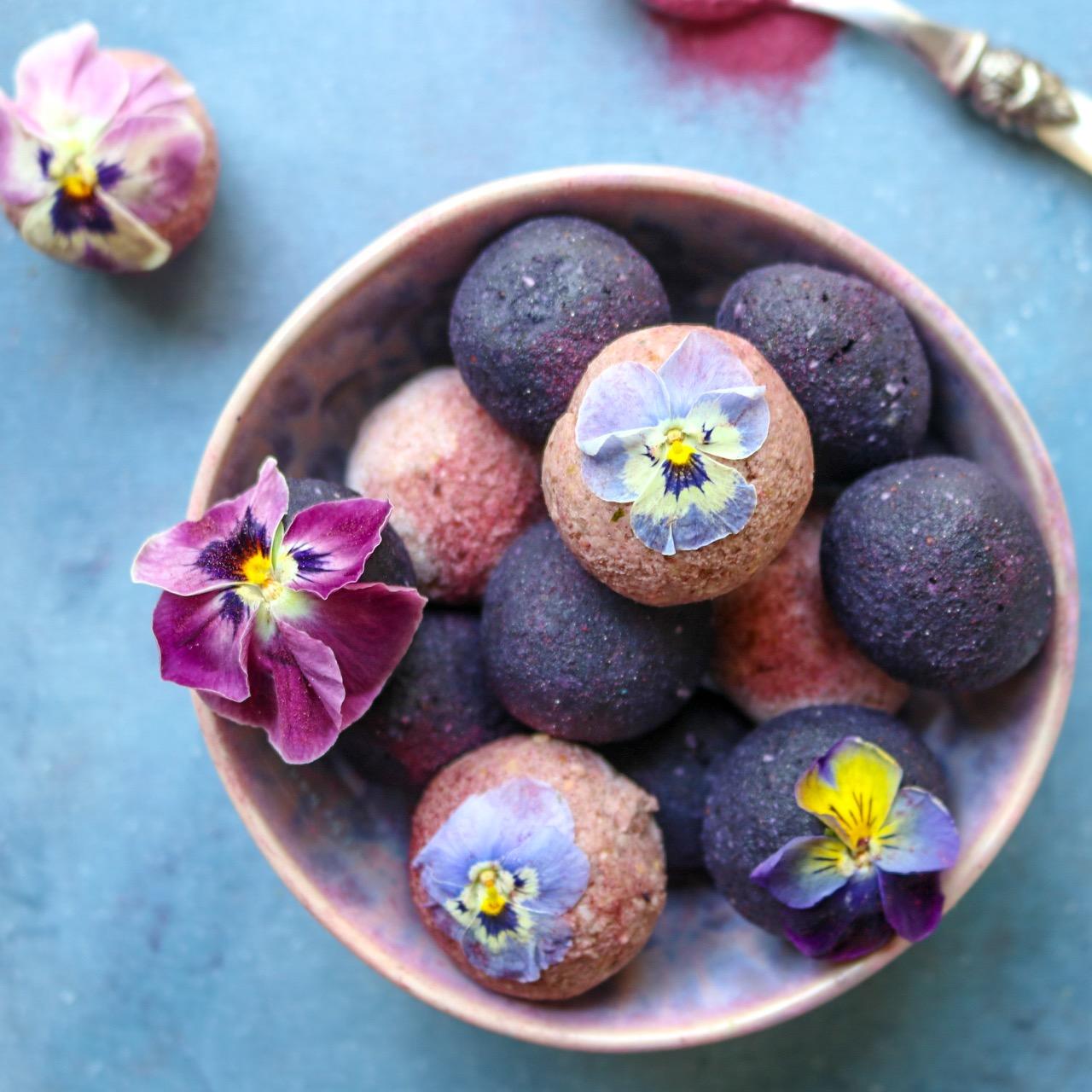 Berry Cream Protein Bites