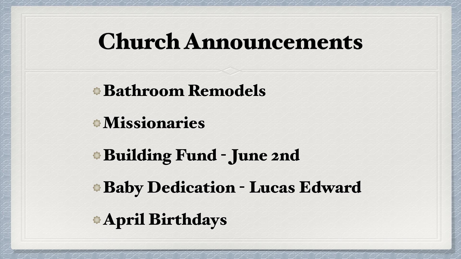 SERMON: April 28, 2019 — Trinity Christian Fellowship