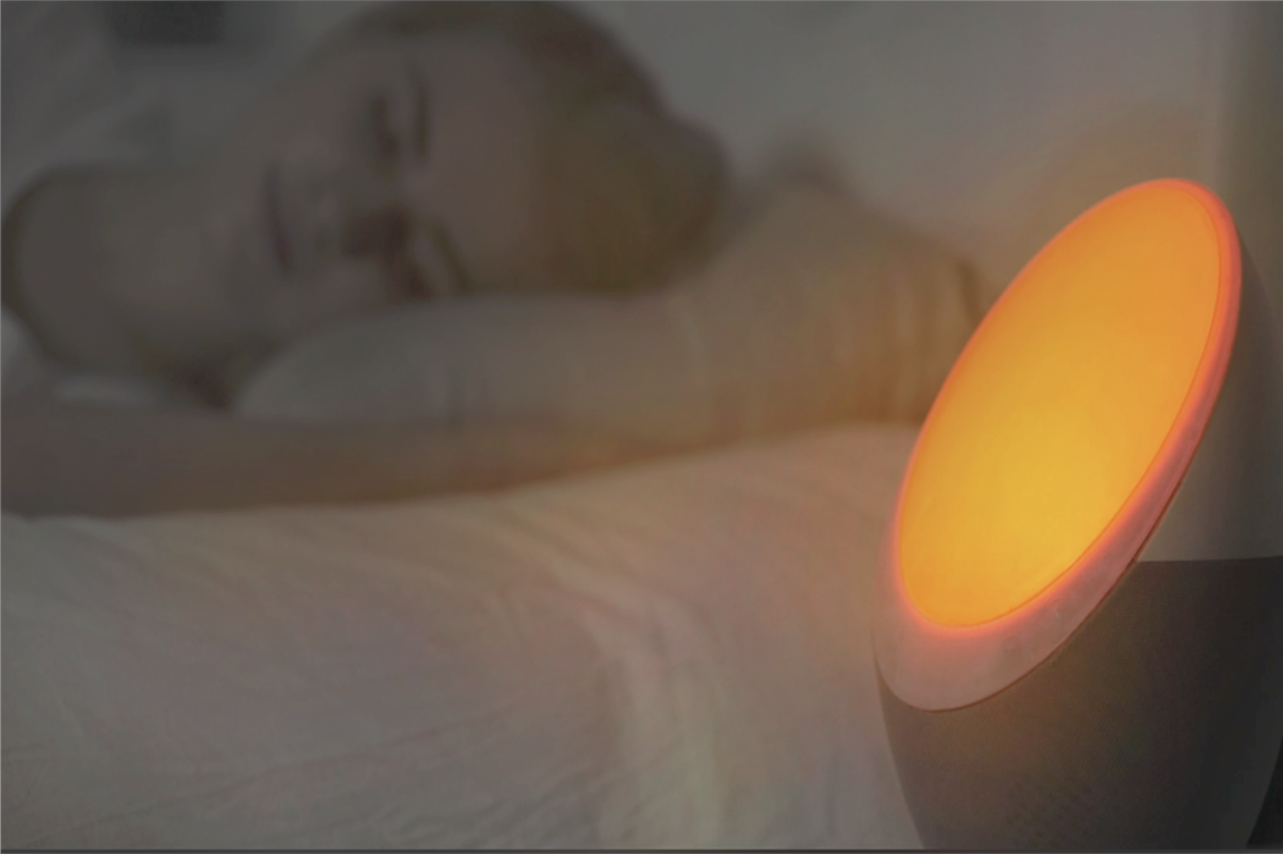 11:00 PM - Blue / white light eliminating and nerve calming red light helps stimulate melatonin production which regulates sleep patterns.Selections of calm and relaxing white noise or natural sounds help you relax into deep sleep cycle while our smart sensor monitors and records your biometric data.
