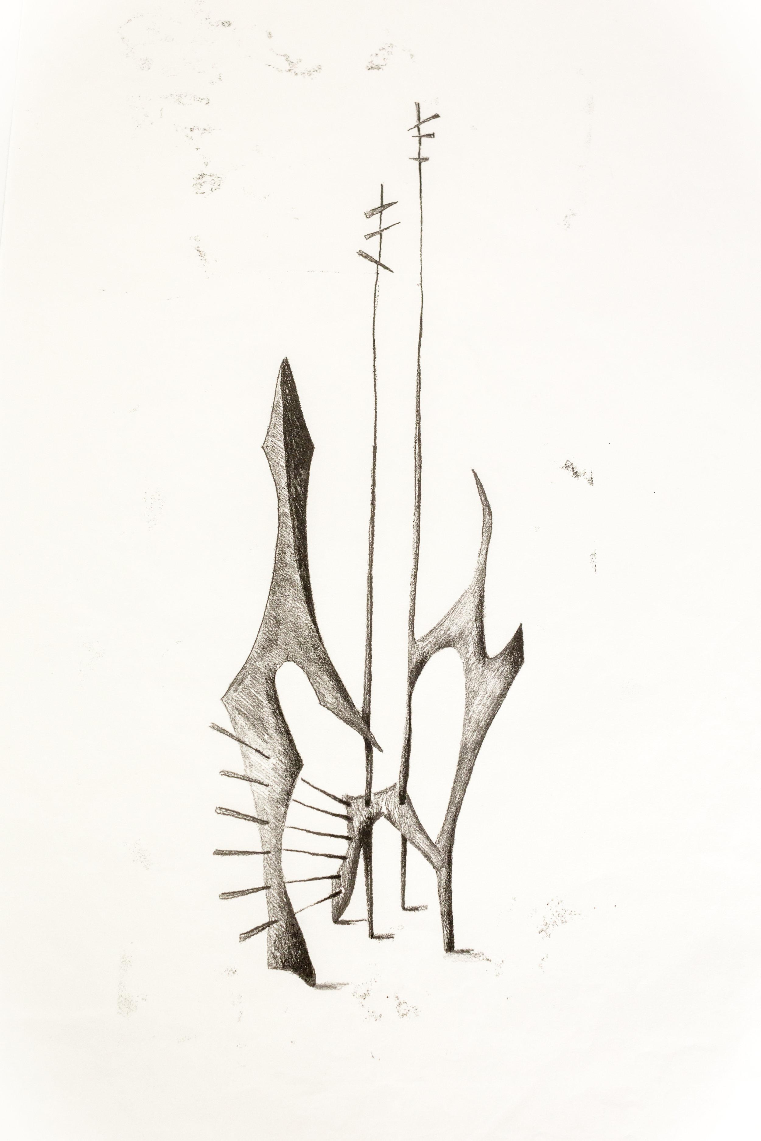 'Untitled Sculpture Drawing v'