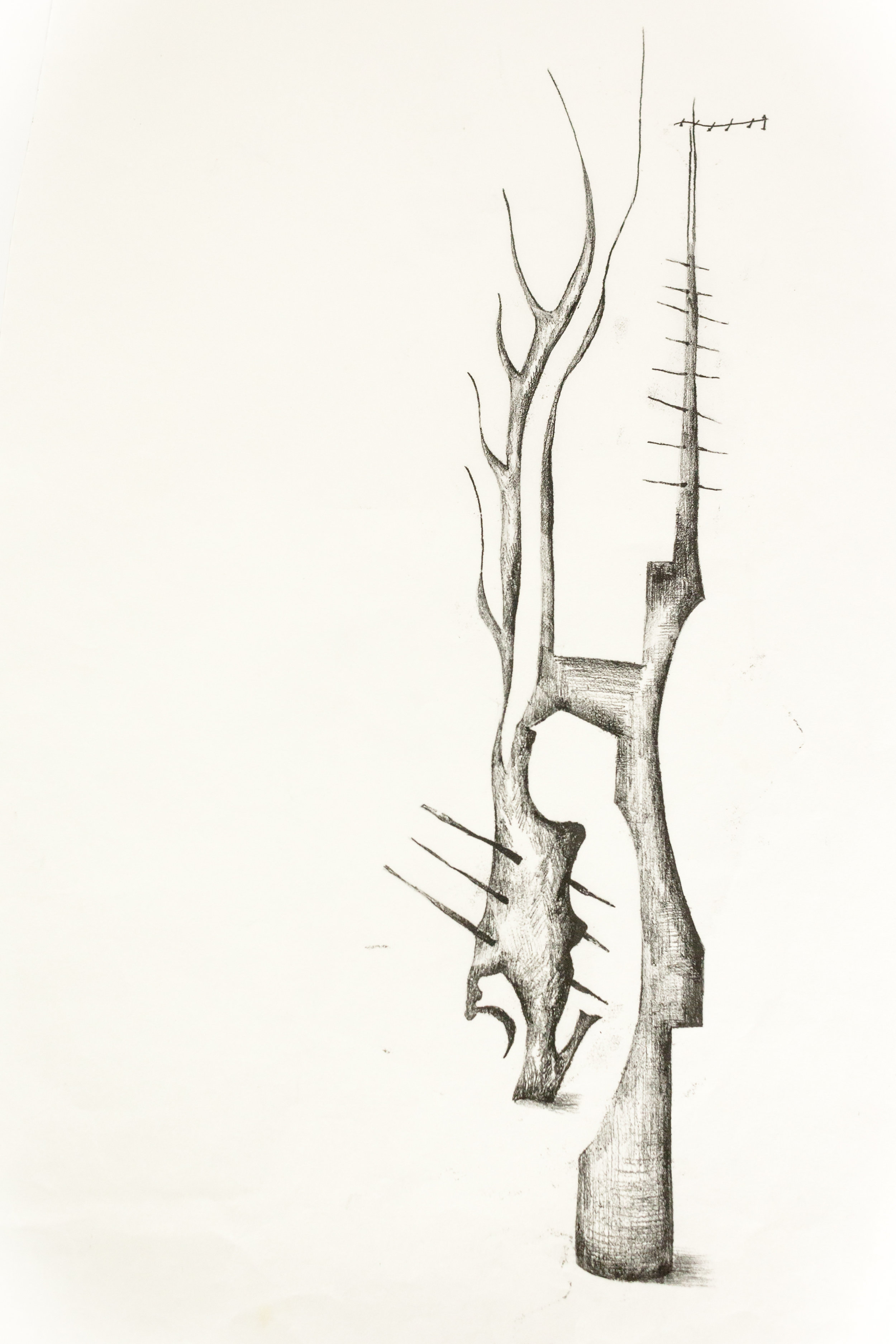 'Untitled Sculpture Drawing viiii'