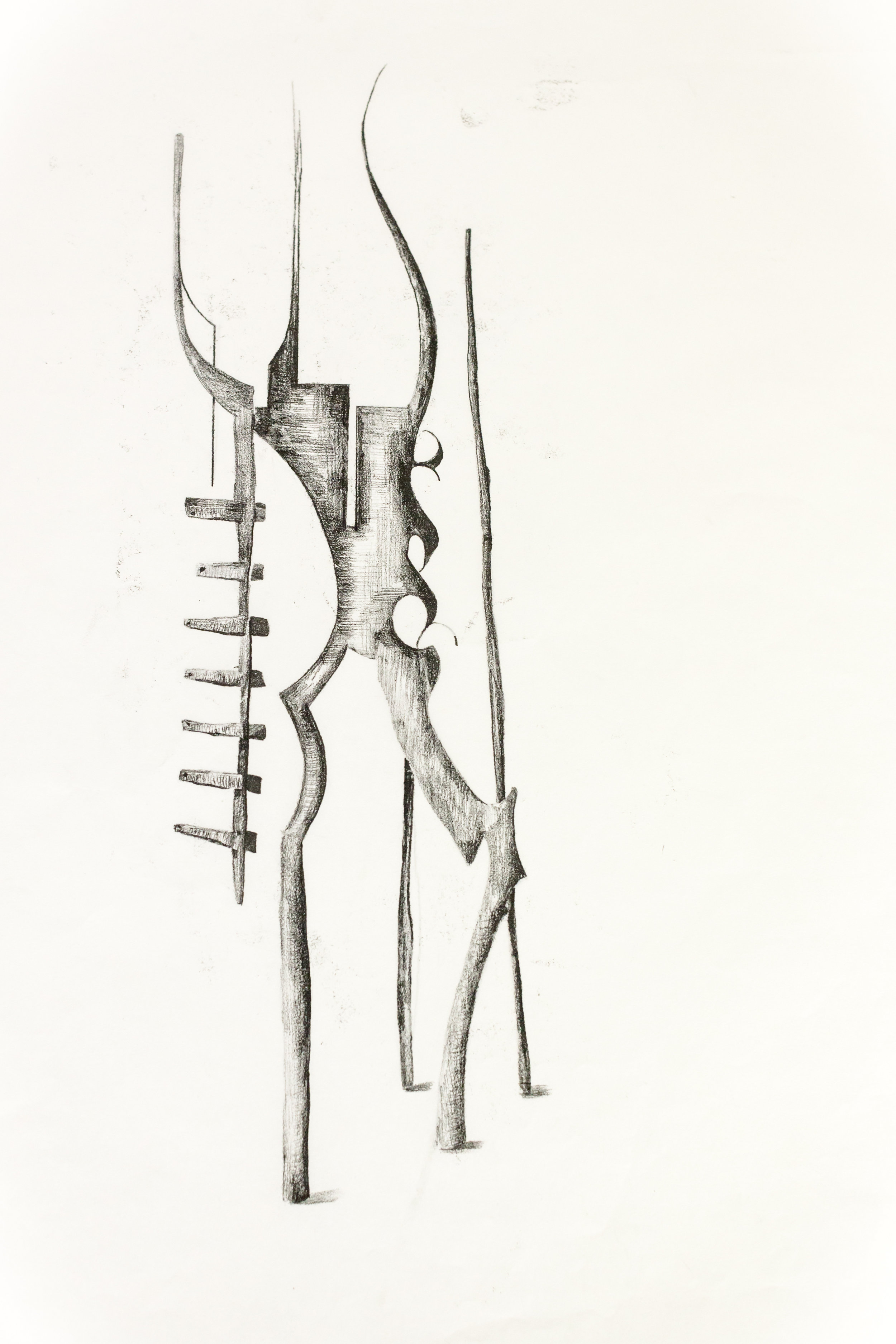 'Untitled Sculpture Drawing x'