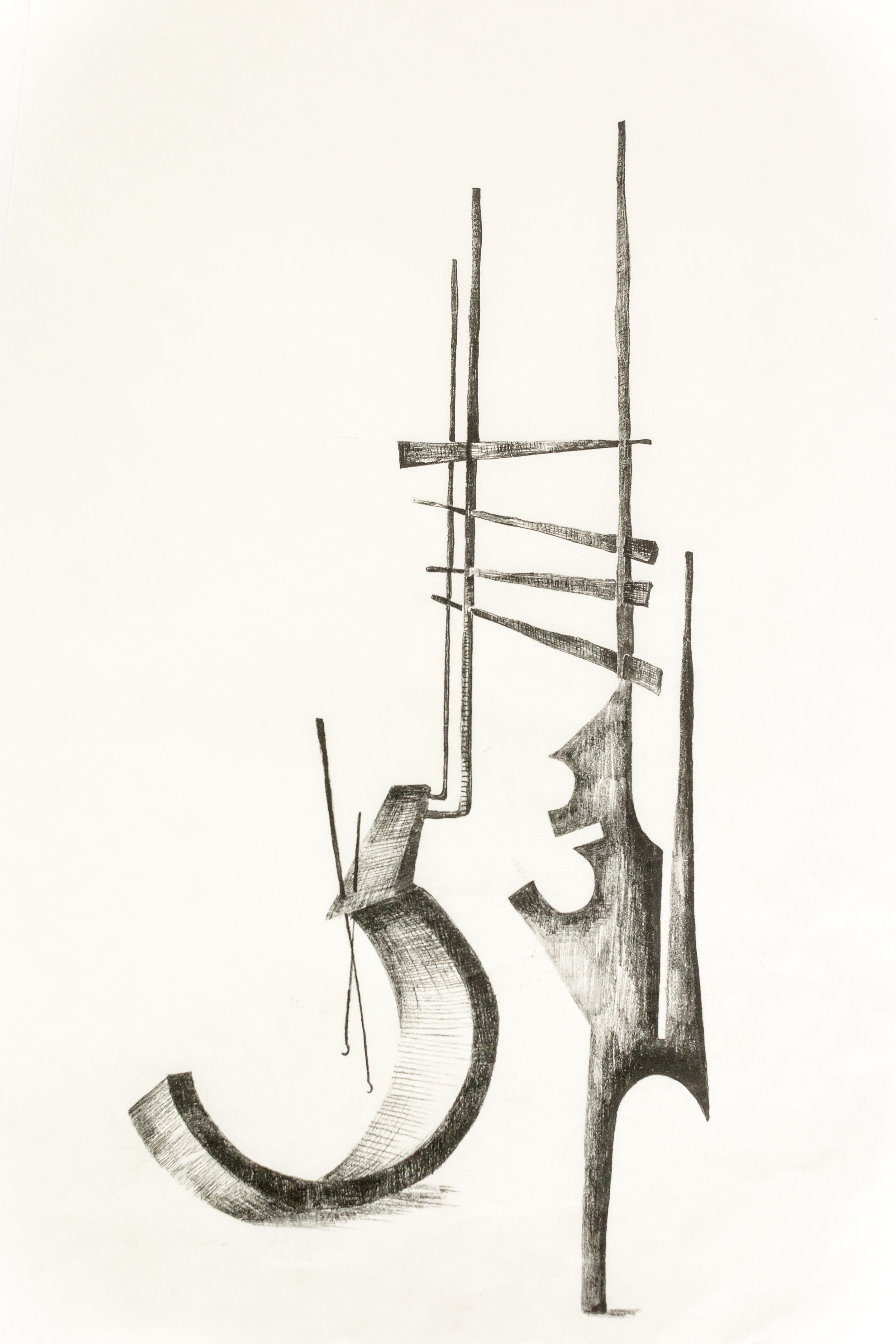 'Untitled Sculpture Drawing iv'