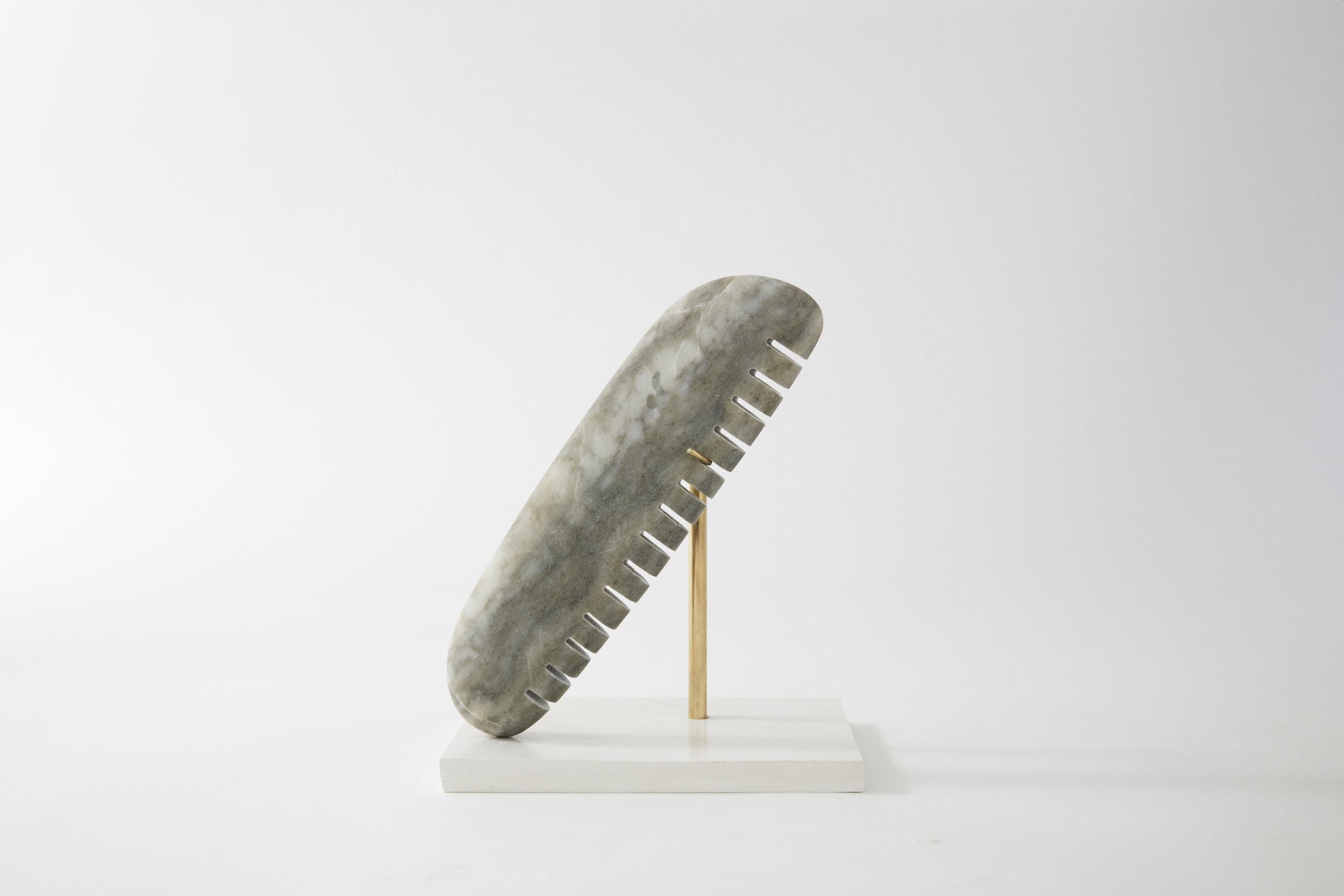 Comb #11, alabaster, 2017