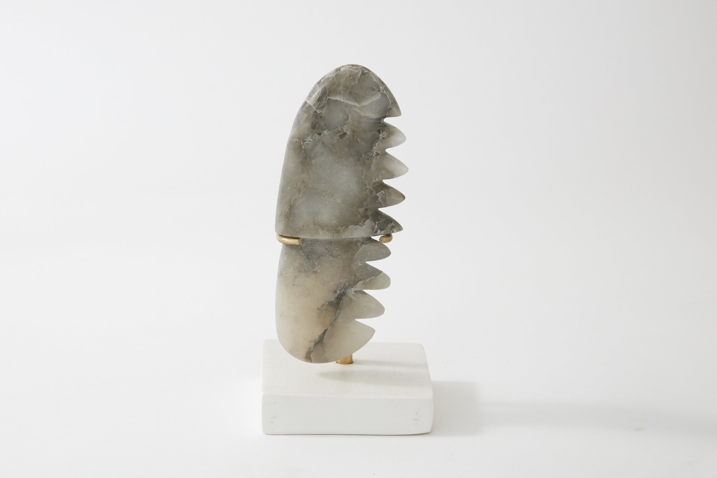 Comb #5, alabaster, 2017
