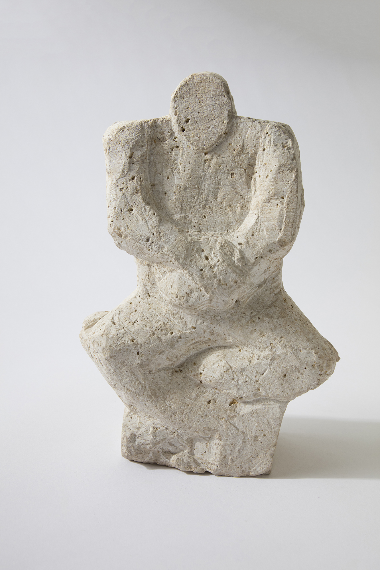Seated Figure, limestone, 2017