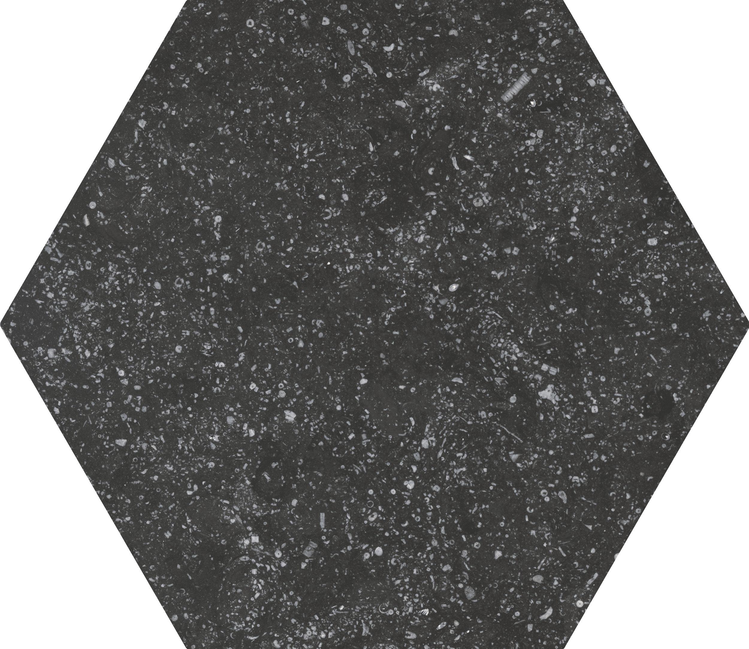 Coralstone Hexagon Black