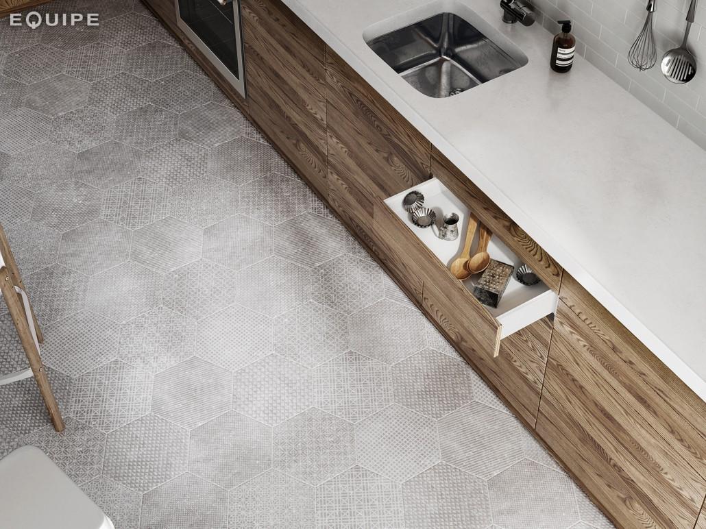Coralstone Hexagon Melange Grey