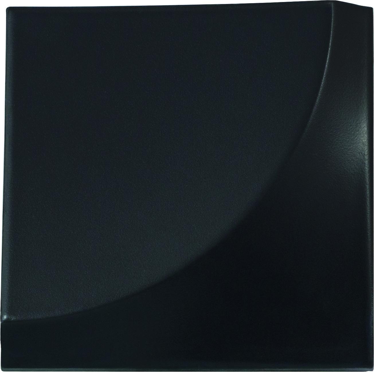 Curve Black Matt 15 x 15 cm