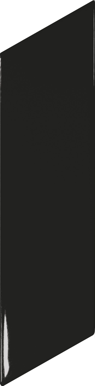Chevron Wall Black Brillo Right 5.2x18 cm