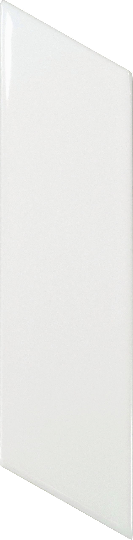 Chevron Wall White Matt left 5.2x18 cm