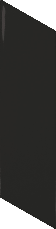 Chevron Wall Black Matt Left 5.2x18 cm