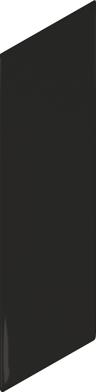 Chevron Wall Black Matt Right 5.2x18 cm