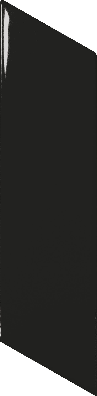 Chevron Wall Black Brillo Left 5.2x18 cm