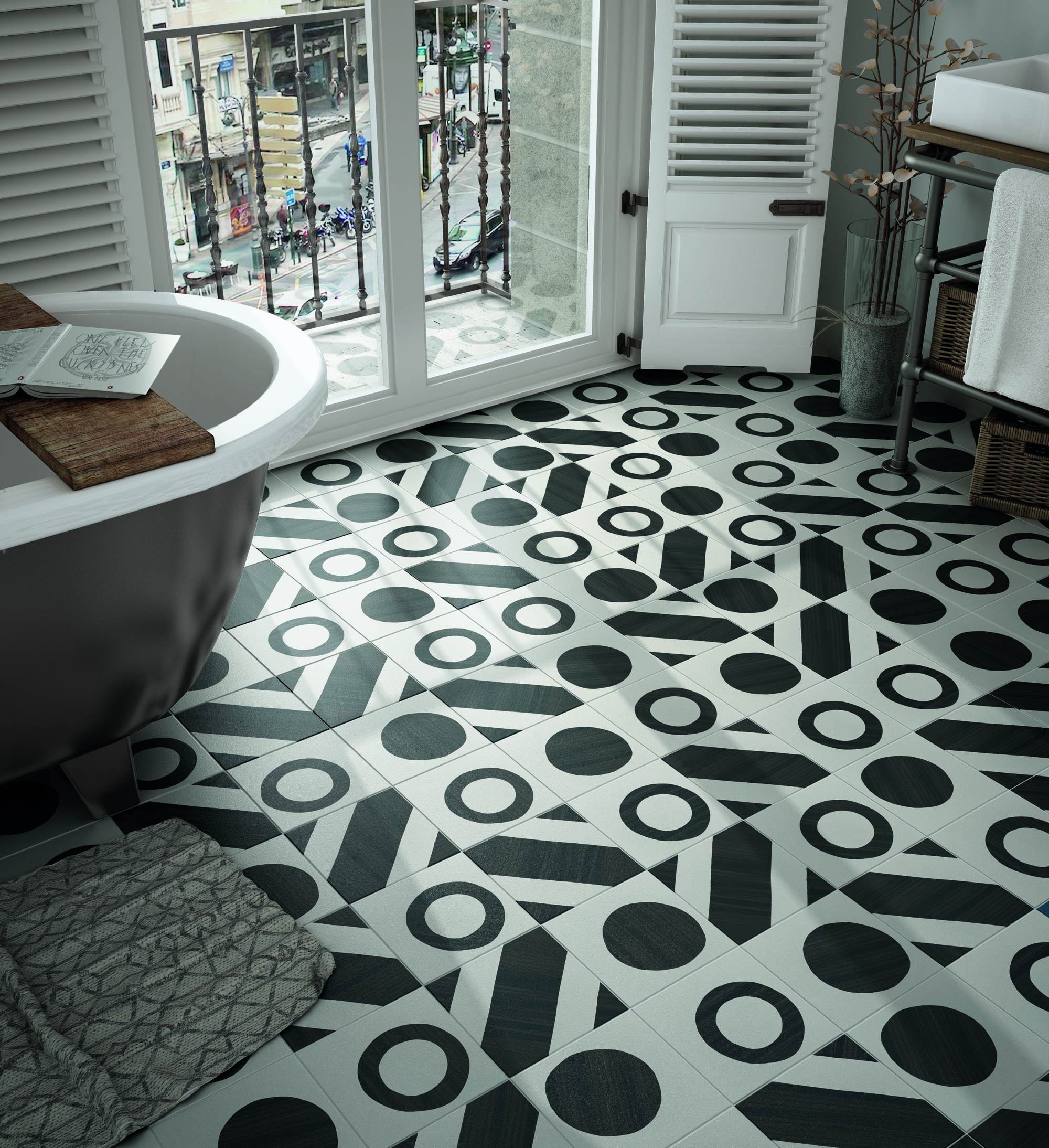 Caprice Deco Balance 20x20 cm Floor & Wall Tile/Porcelain/R9
