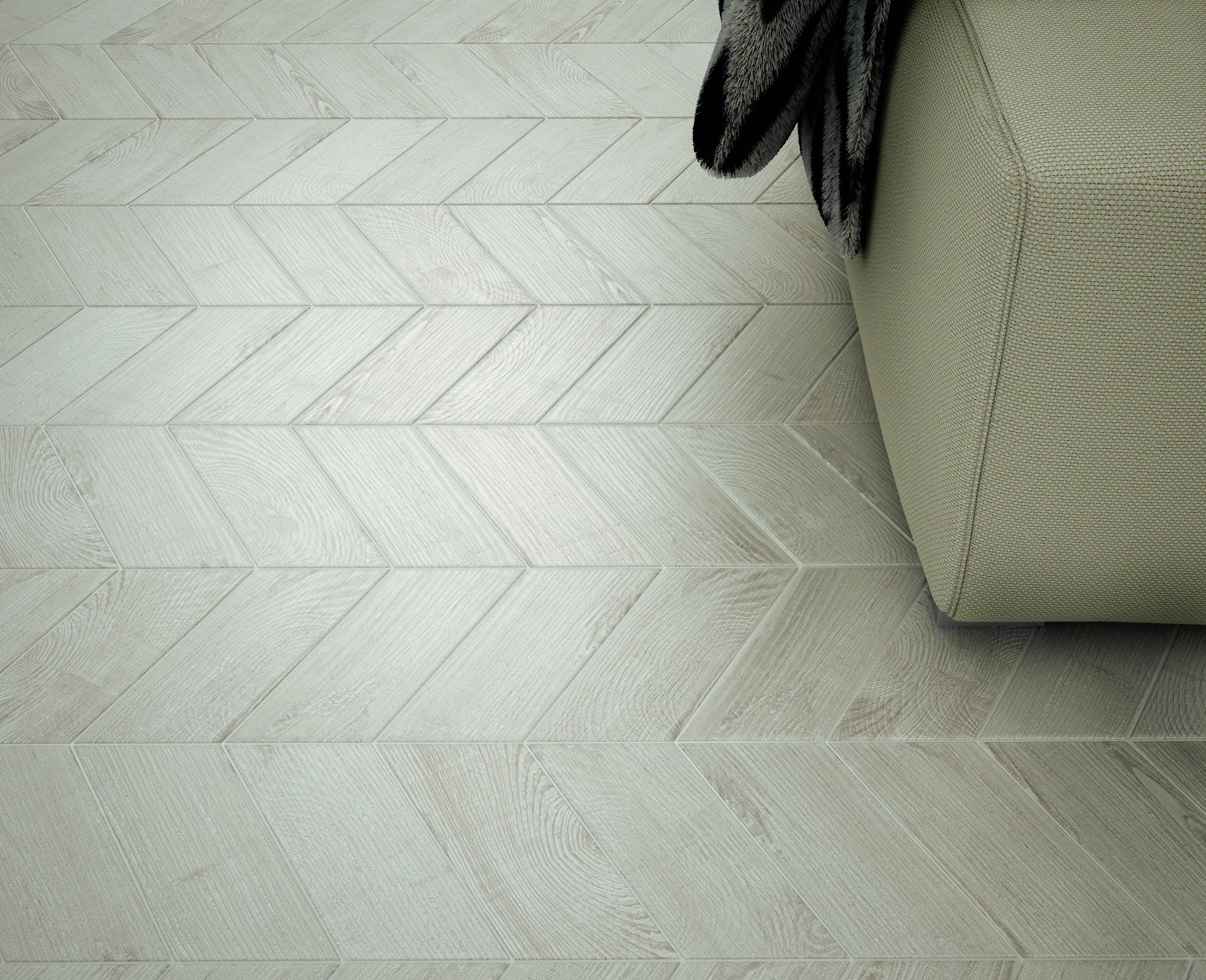 Hexawood Chevron Grey 9x20.5 cm Floor & Wall Tile/Porcelain/R10/V2