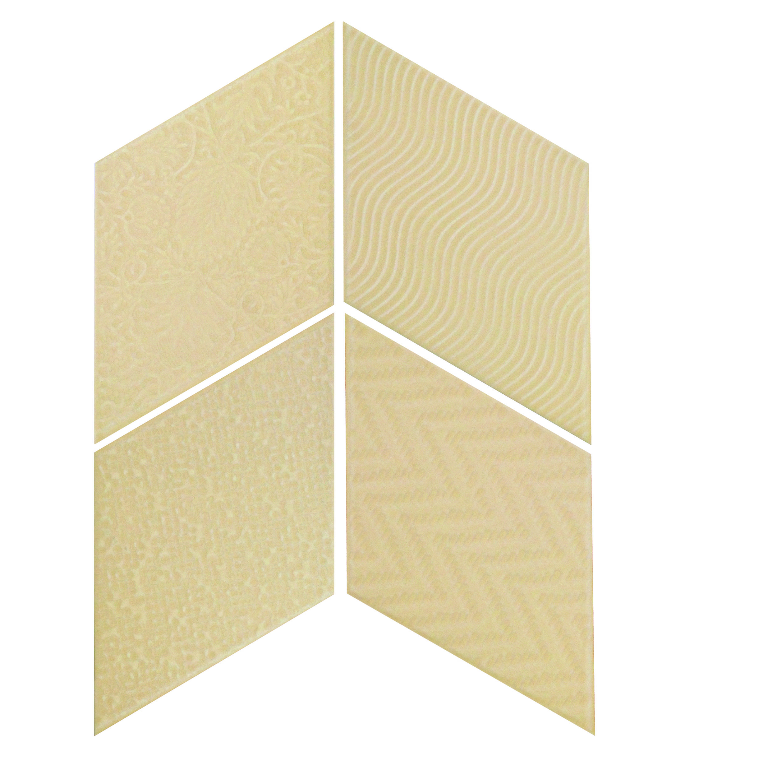 Rhombus Cream 14x24 cm  Floor & Wall Tile / Porcelain / R9