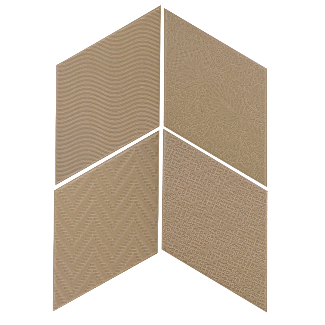 Rhombus Taupe 14x24 cm  Floor & Wall Tile / Porcelain / R9