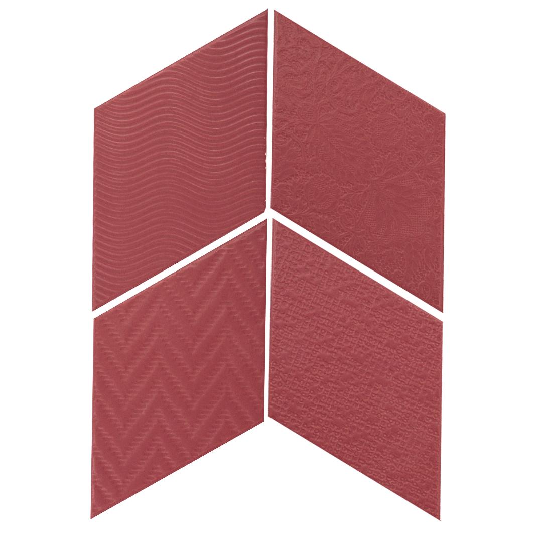 Rhombus Red 14x24 cm  Floor & Wall Tile / Porcelain / R9
