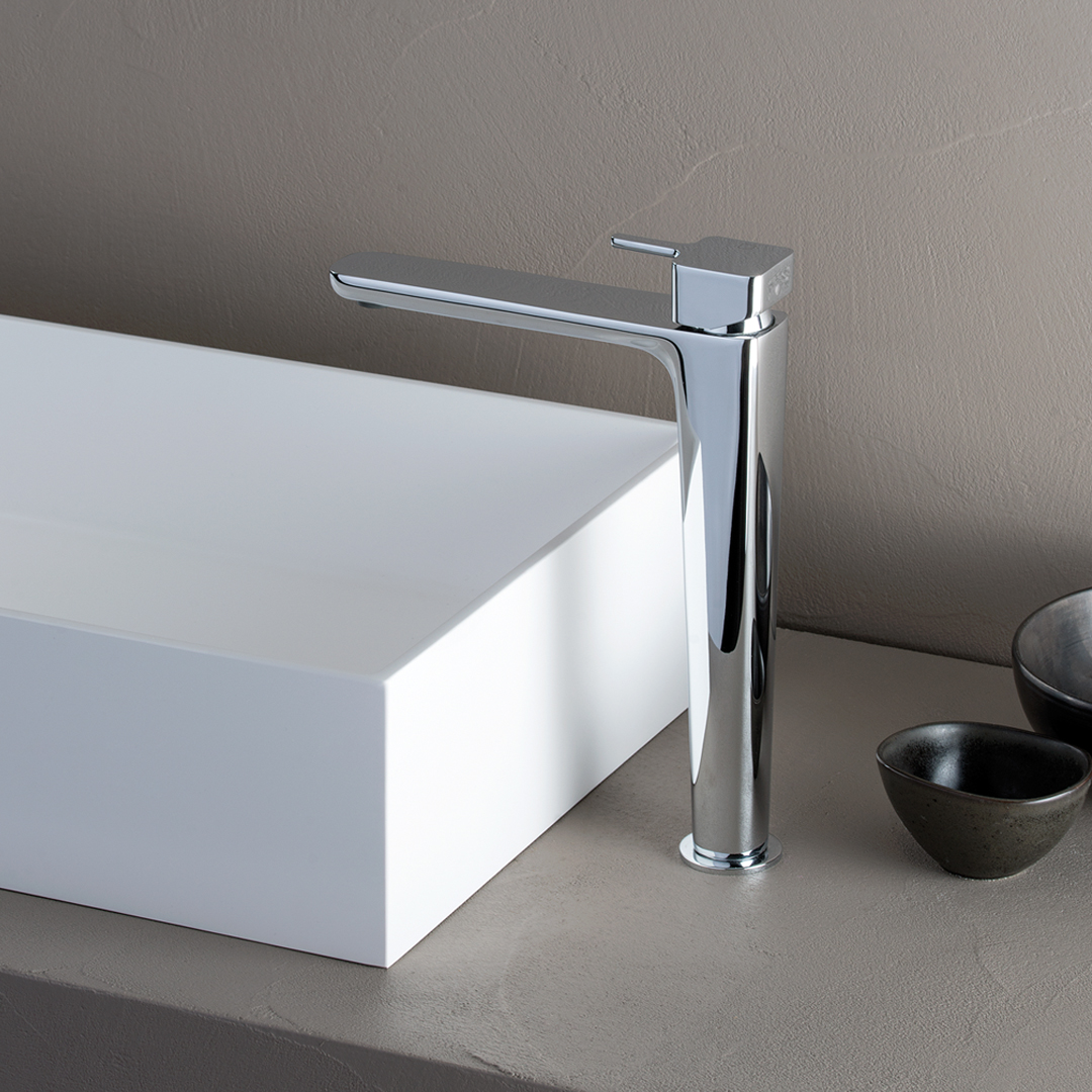 "KG 21251  Available in Chrome. Accepts indent orders for other colors.  Basin mixer with 1""1/4 Up&Down waste"