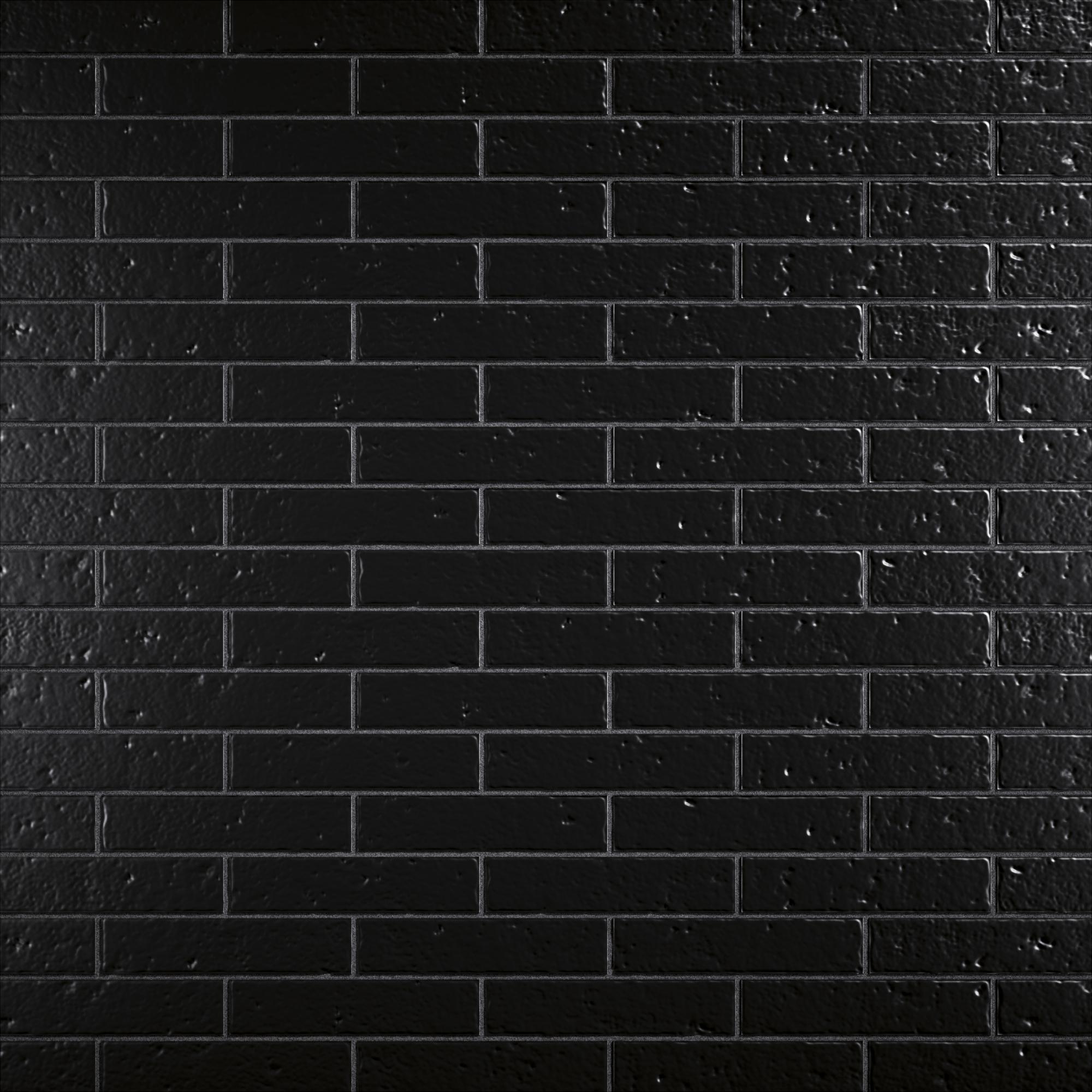 Sevilla Negro 23x24.5 cm (4bricks/biscuit) brick size: 5.8x24.5 cm