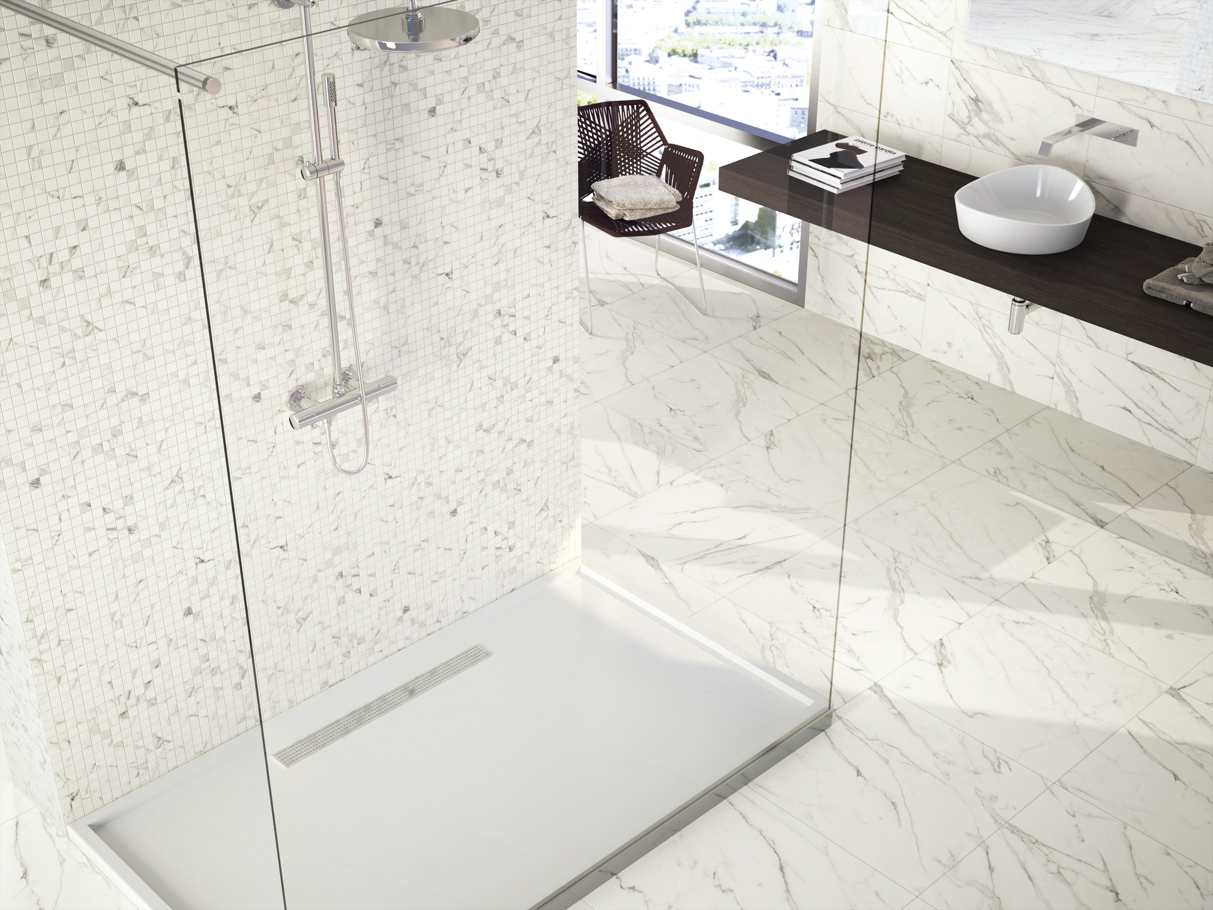 Nilo White 45x45 cm