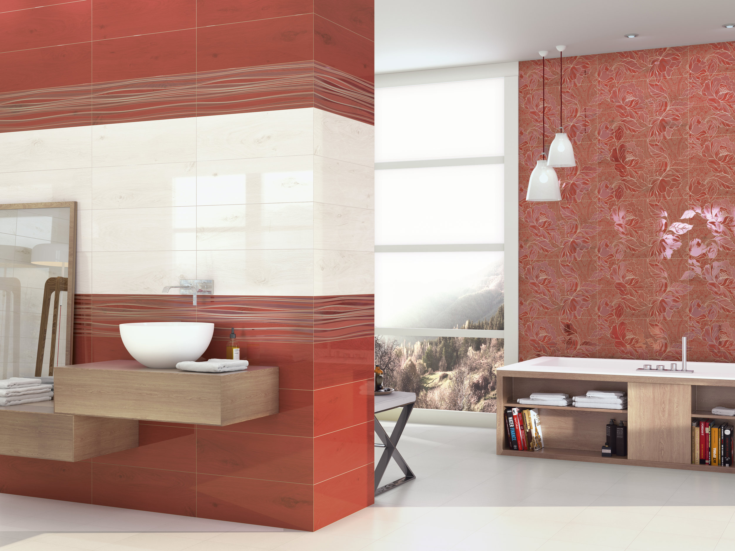 Vernis Rojo/Vernis Decor Gabi Rojo 20x60 cm