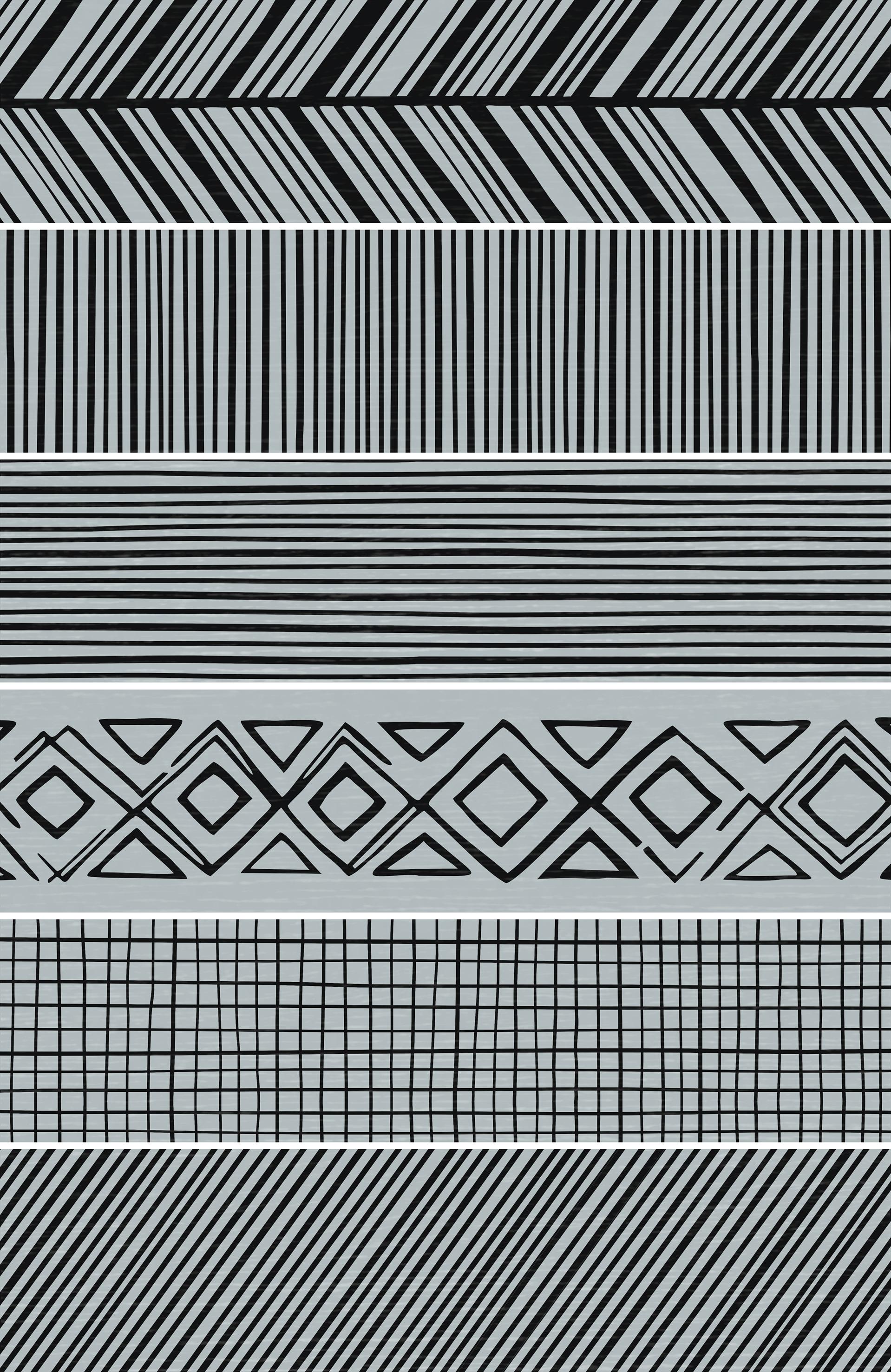 Takenos Picasso Mix Sky 14.6x59.3 cm  Floor & Wall tile/ Porcelain / Matt/ random design