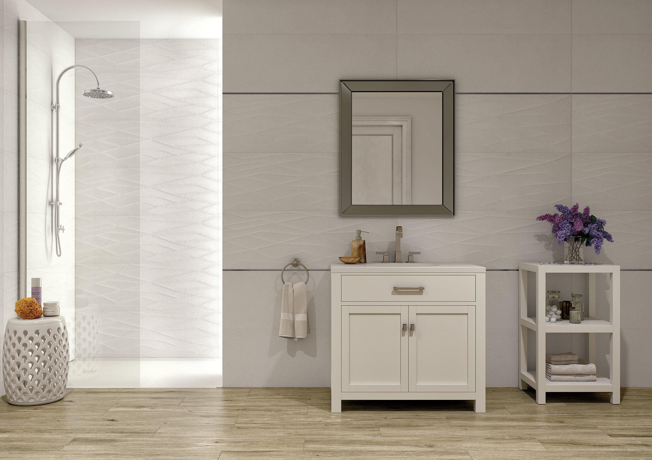 Click White 40x120 / Net White 40x120 cm