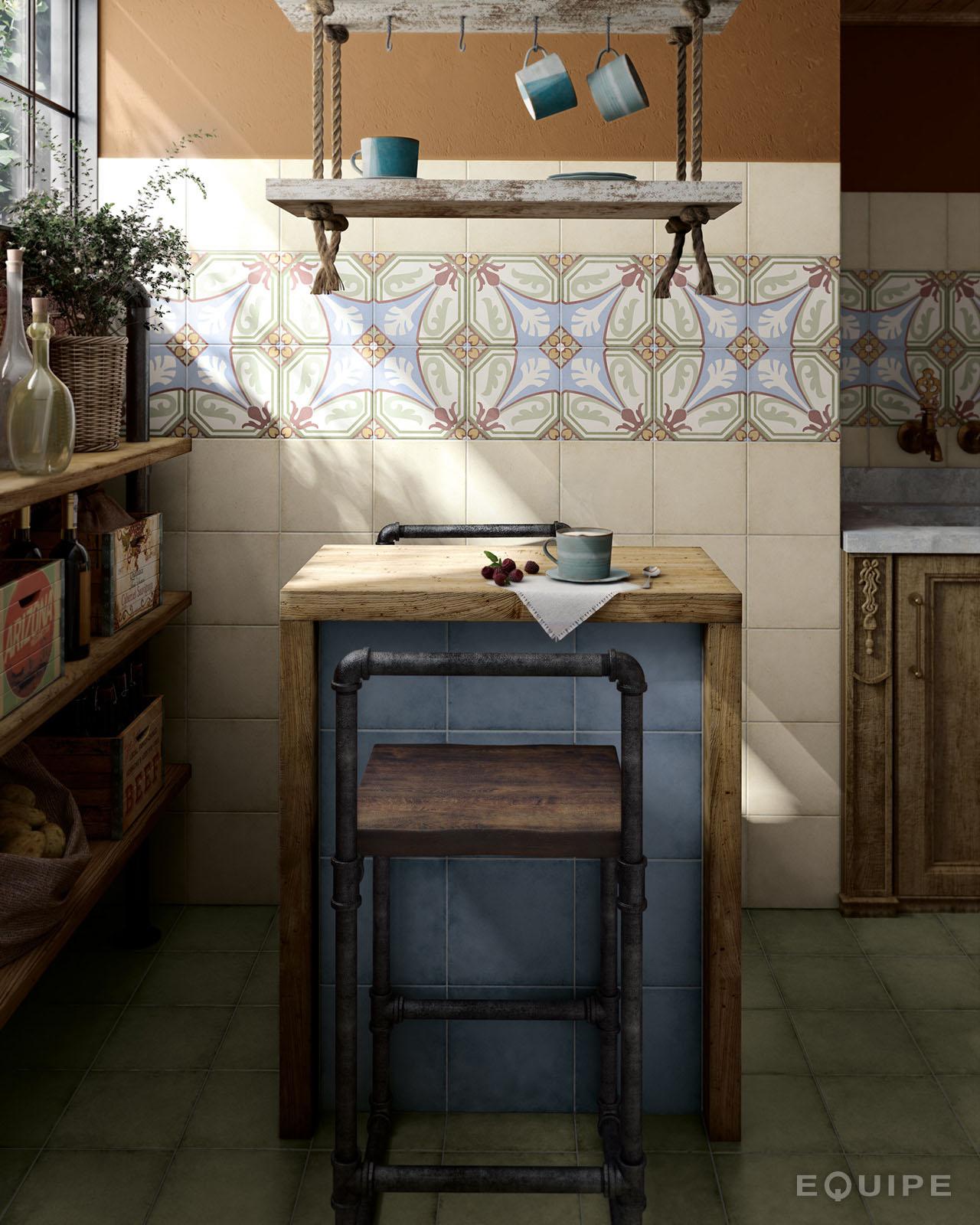 ArtNouveau_CypressGreen_SkyBlue_Biscuit_VienaColor_Kitchen.jpg