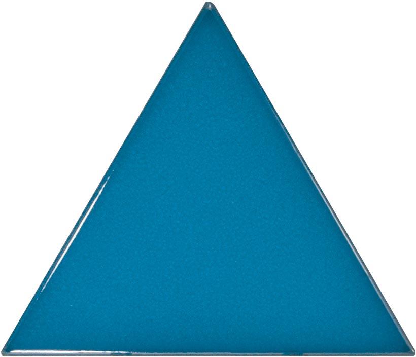Triangolo Electric Blue 10.8x12.4 cm