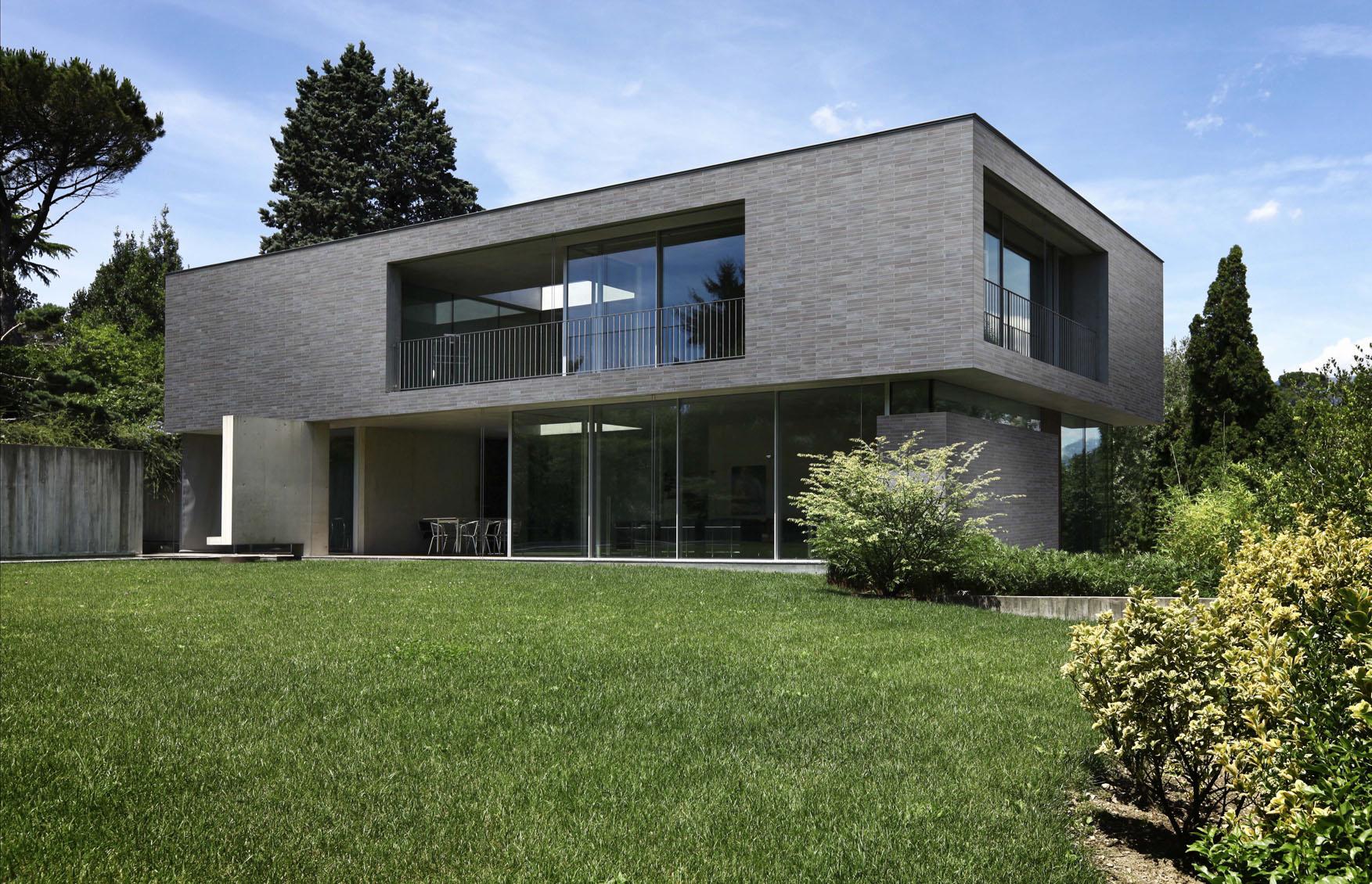 modern house in beton, arch, attilio panzeri