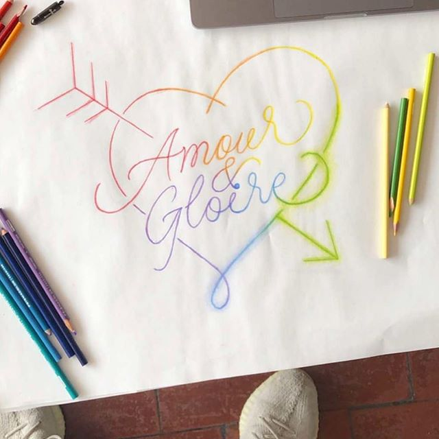 """Amour & Gloire Pour Tous""  Sketch I did for new @gloir3 😊"