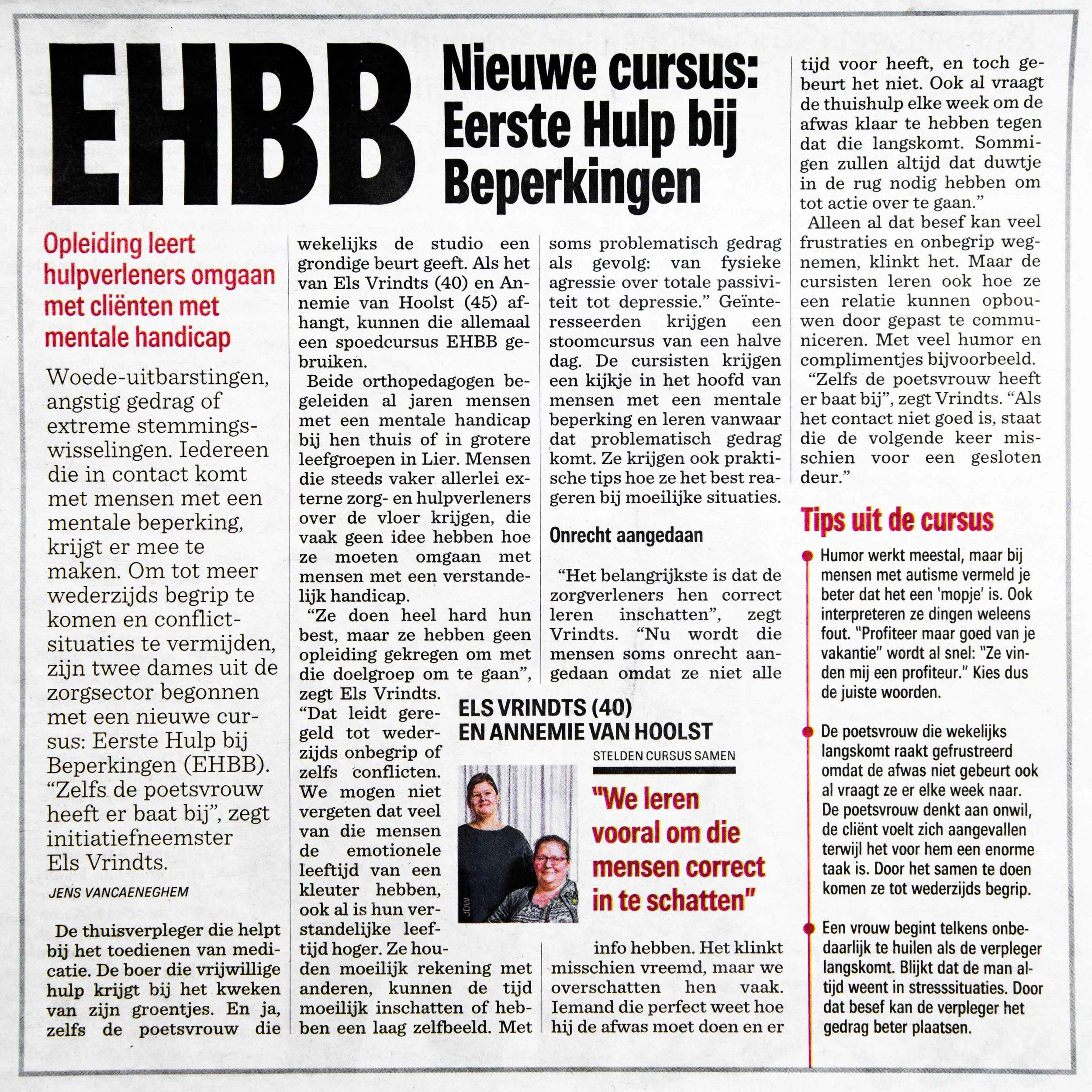 uit het nieuwsblad 27/1/2018