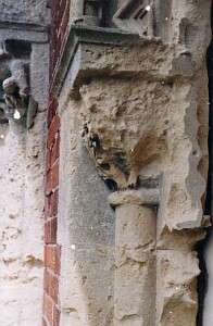 Stonework at Hendre Mansion before restoration...
